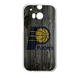 Special Designed HTC One M8 Case with Indiana Pacers Team Logo (Laser Technology)-by Allthingsbasketball