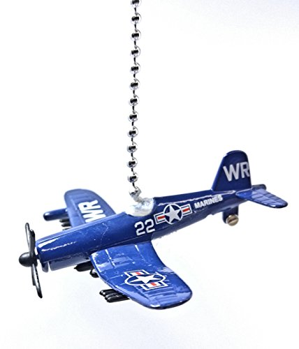 Airplane Ceiling Fan Pull (HW Diecast Airplanes & Aircraft FAN PULL / LIGHT PULL (USN Corsair Airplane (Navy)