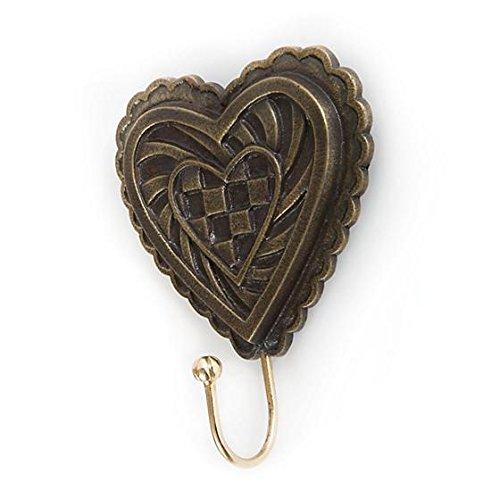 MacKenzie-Childs Heart Hook Aluminum & Brass Handmade Nature-4.5'' W x 6'' T x1.75 D