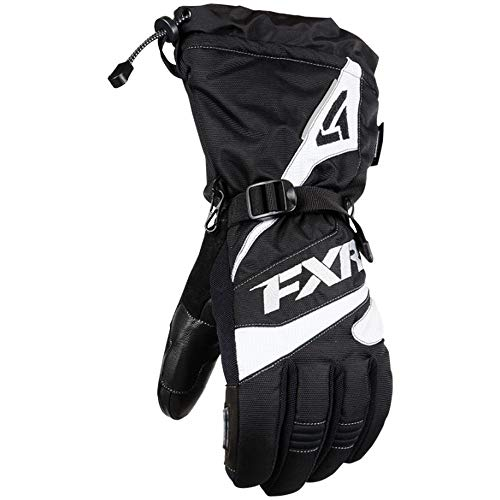FXR Mens Fuel Glove (Black/White, 2X-Large)
