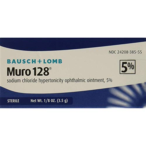 Bausch & Lomb Muro 128 5% Ointment 3.50 g (Pack of 3) ()