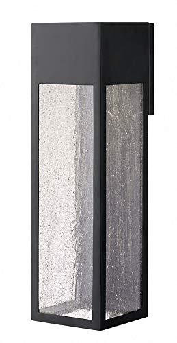 Hinkley 1788SK-LL Rook Outdoor Wall Sconce, 1-Light, 6.5 Watts LED, Satin Black