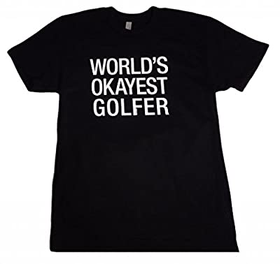 Panoware Men's World's Okayest Golfer Funny T-Shirt