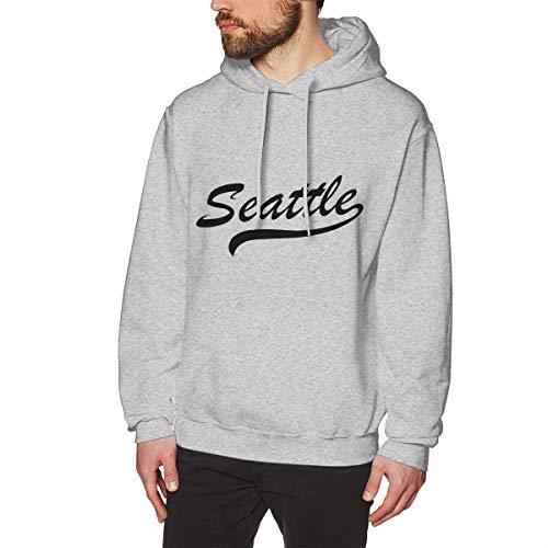 SARA NELL Men's Sweatshirt Seattle Hoodies Pullover Hooded Sweatshirts