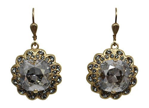 c39b20a48 Catherine Popesco La Vie Parisienne Antiqued Luxe Swarovski Crystal Flower  Earrings