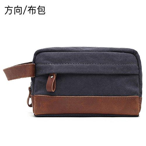 de 23cm Vintage bolso dirección gris Horse clutch tela 15cm de piel Crazy 10cm de cuero bolsa de oscuro Vintage rq6HtYw6n