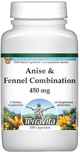 Anise and Fennel Combination - 450 mg (100 Capsules, ZIN: 513065) - 3 Pack by TerraVita (Image #1)