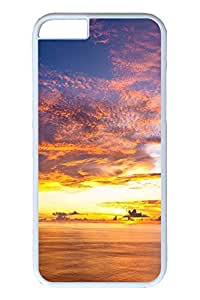 Brian114 6 plus Case, iPhone 6 plus Case - Anti-Scratch Case Bumper for iPhone 6 Plus Beautiful Colourful Sunset Slim Fit Case for iPhone 6 Plus 5.5 Inches