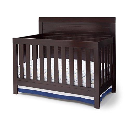 Simmons Kids Rowen 4-in-1 Convertible Crib, Black Espresso