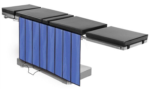 X-Ray Shields - Main Table Drape Panel Barrier, 0.5mm Protection, 5-Panels, 30''W x 36''H, Regular Lead