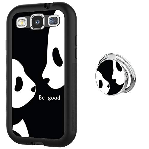 Hynina Phone Case and Phone Ring Buckle Compatible for Samsung Galaxy S3 - Cute Panda Cub (Panda Phone For S3 Galaxy Case)