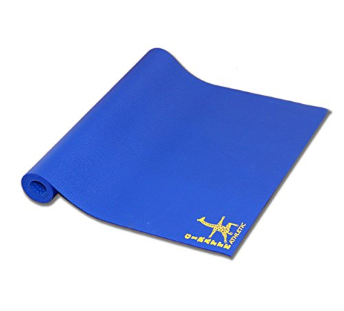Giraffe Athletic Extra Large High Density Yoga Mat 85″ x 36″ (Cobalt Blue) For Sale