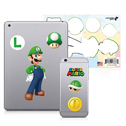 Controller Gear Super Mario – Character Tech Decal Pack – Luigi – Nintendo Wii; GameCube