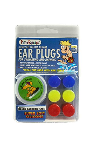 PUTTY BUDDIES Original Swimming Earplugs, 3-Pair Pack (Any Plug)
