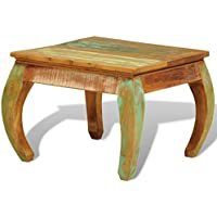 vidaXL Solid Reclaimed Wood Coffee Side End Accent Table Living Room Furniture