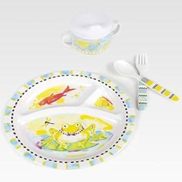 MacKenzie-Childs Toddler Perfect Dinnerware Set - Frog (Set of 5)  sc 1 st  Amazon.com & Amazon.com : MacKenzie-Childs Toddler Perfect Dinnerware Set - Frog ...