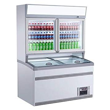 Combisteel - Vitrina refrigerada de pared libre servicio blanco ...
