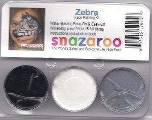Face Paint Theme (Snazaroo Zebra Face Paint Theme Kit)