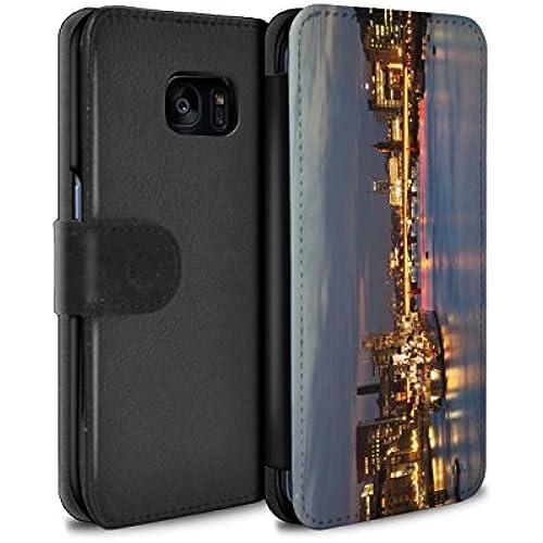 STUFF4 PU Leather Wallet Flip Case/Cover for Samsung Galaxy S7 Edge/G935 / London Bridge Design / London England Sales