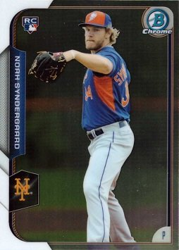 2015 Bowman Rookie Baseball - 2015 Bowman Chrome Baseball #192 Noah Syndergaard Rookie Card