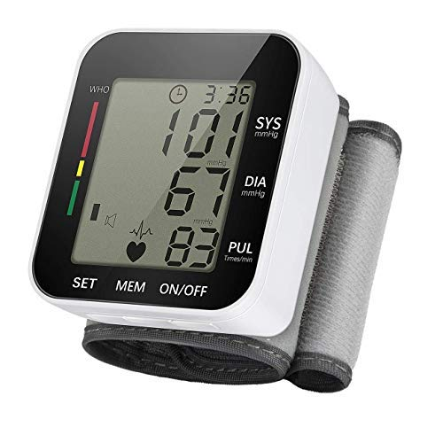 Automatic Wrist Blood Pressure Monitor Arm Blood Pressure with Portable Case 90 Readings Memory Function