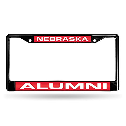 (Rico Industries NCAA Nebraska Cornhuskers Laser Cut Inlaid Standard Chrome License Plate Frame)