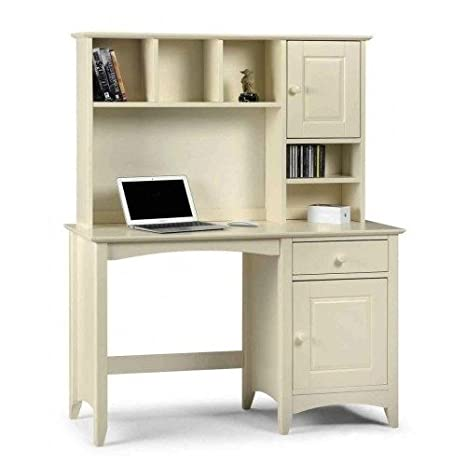 white home office computer desk with drawers shelves a rh amazon co uk writing desk with drawers and shelves computer desk with drawers and shelves