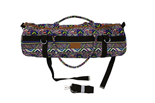 Baja Stretch Yoga Mat Carrier Bag with Spacious Pockets - Adjustable Patterned Strap, Stylish, Durable Yoga and Pilates Mat Holder - Baja Yoga