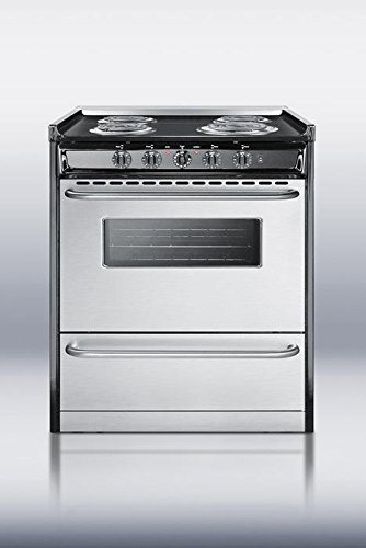 Summit TEM210BRWY Kitchen Cooking Range, Stainless Steel