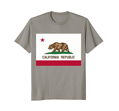 Mens California State Flag T Shirt 2XL Slate