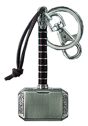 Marvel Comics Avengers Thor's Hammer Pewter Keychain Key Ring With Clip