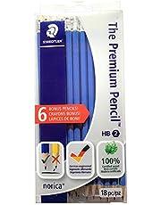 Staedtler 13246CB18P11TH The Premium Pencil, Norica, HB2 special lead, 12 Plus BONUS 6 for Total 18 Count