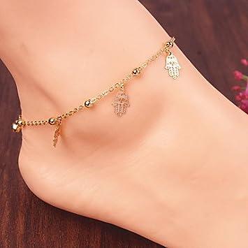 GYJUN temp/érament de mode bracelets de cheville de groupe de bergamote