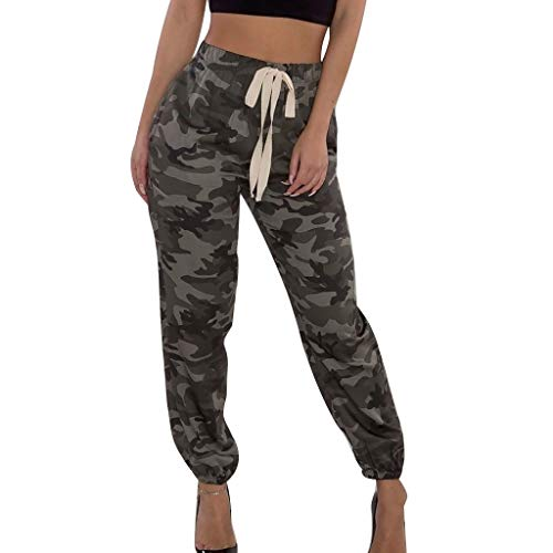 Houndstooth Cargo - Women Camo Trouser Jogger Pants Plus Size Casual Cargo Hip Hop Rock Trousers