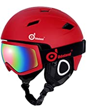 Snow Ski Helmet and Goggles Set, Odoland for Kids and Adult Sports Helmet and Protective Glasses - Shockproof/Windproof Protective Gear for Skiing, Snowboarding, Motorcycle Cycling and Snowmobile