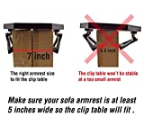 Utrax Wooden Sofa Arm Clip on Snack Table Wood