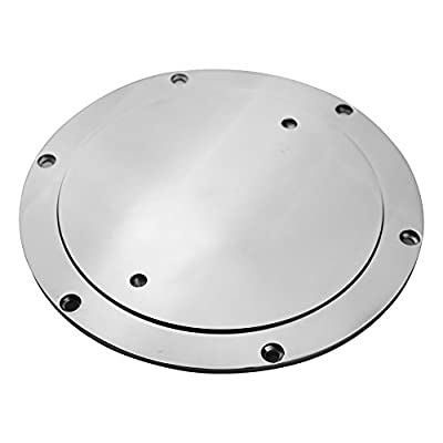 """6"""" Boat Deck Plate by Salty Reef Marine Hardware Made from Heavy Duty 316 Marine Grade Stainless Steel"""