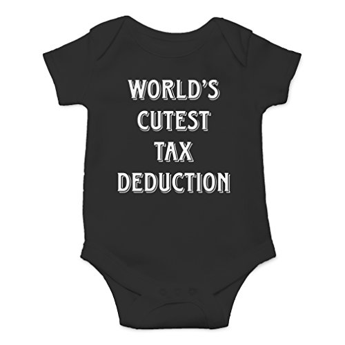(AW Fashions World's Cutest Tax Deduction Cute Novelty Funny Infant One-Piece Baby Bodysuit (12 Months,)