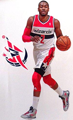 John Wall Mini FATHEAD + Washington Wizards Logo Official NBA Vinyl Wall Graphics 7 inch