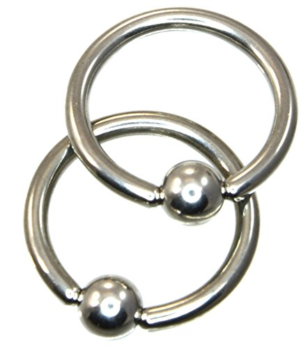 Captive Bead Ring 14GA 7/16 in Implant Grade 316L Surgical Steel Multi Utility Piercing Jewelry CBR 917 - Lip Kix