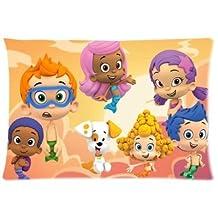 Ur pillowcase Custom Bubble Guppies Cartoon Zippered Pillow Case 20x30 (Twin Sides Print)