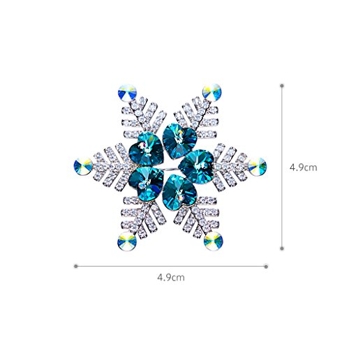 IUHA Christmas Snowflake Sparkling Brooch Made with Swarovski Crystals Party Holiday for Women Girls Gift by IUHA (Image #6)