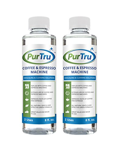 Coffee and Espresso Machine Descaling and Cleaning Solution (2 Pack) - All Natural Descaler and Cleaner For Keurig, Bunn, Delonghi, Nespresso and All Drip Coffee, Espresso and Single Cup Machines by PurTru (Image #6)