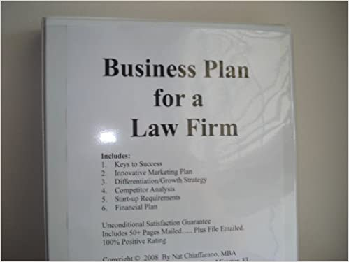 law firm business plan table of contents