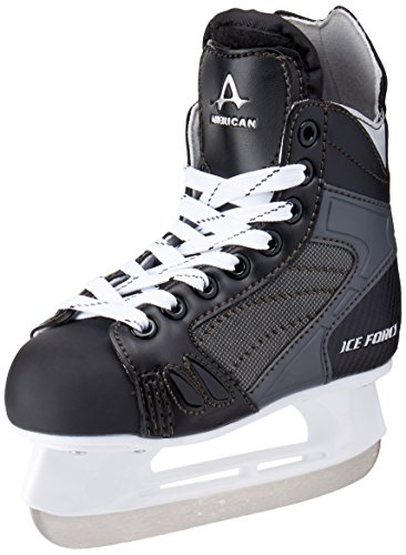 American Athletic Shoe Boys Ice Force Hockey Skates, Black, 3