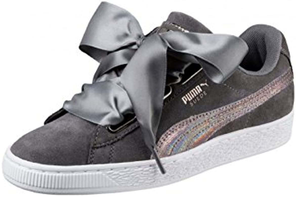 3635e6e1d35b60 Puma Chaussures W Suede Heart Lunalux - Smoked Pearl-Gris: Amazon.fr ...