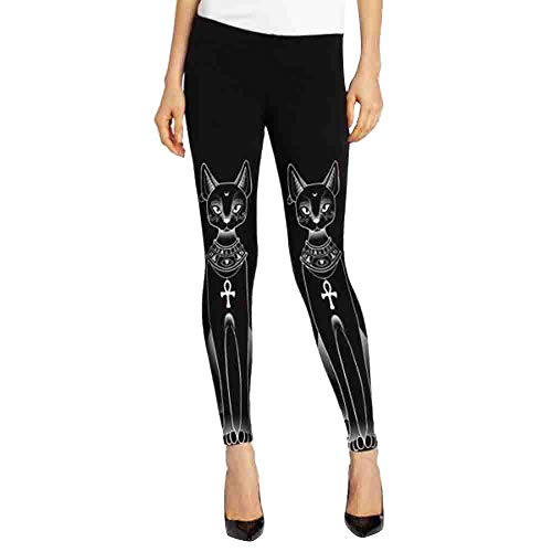 Cat Stamp Hippie Gothic Skinny Casual Pants Tights Leggings ()