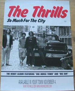 Amazon com: The Thrills - So Much For The City - Poster