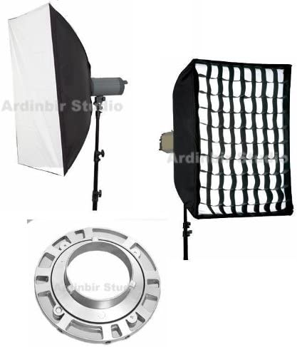 Mettle Fancier Calumet Flash Monolights Ardinbir Studio 35x35 90cm x 90cm Softbox Diffuser with Eggcrate Grid for Bowens Visico