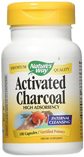 (Nature's Way Activated Charcoal High Absorbency Supplement, 100 Count (Pack of 2) )